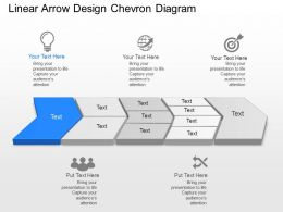 Jd Linear Arrow Design Chevron Diagram Powerpoint Template
