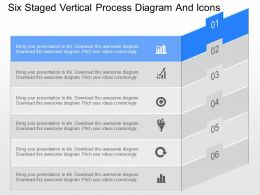 jd Six Staged Vertical Process Diagram And Icons Powerpoint Template