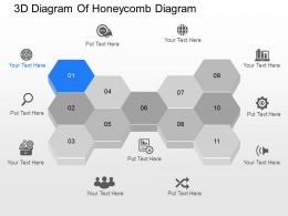 je 3d Diagram Of Honeycomb Diagram Powerpoint Template