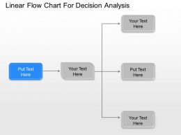 Je Linear Flow Chart For Decision Analysis Powerpoint Template