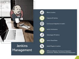 Jenkins Management Architecture M2754 Ppt Powerpoint Presentation File Visual Aids