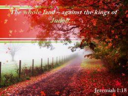 Jeremiah 1 18 The Whole Land Against Powerpoint Church Sermon