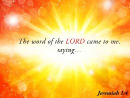 Jeremiah 1 4 The Word Of The LORD Powerpoint Church Sermon