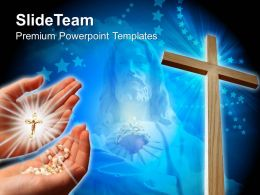 Jesus Christ Cross Powerpoint Templates Christian Image Ppt Slides