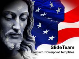 Jesus Christ Cross Powerpoint Templates Usa Americana Diagram Ppt Design