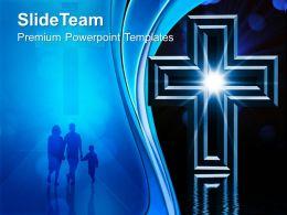 Jesus Christ God Powerpoint Templates Cross Christainity Image Ppt Designs
