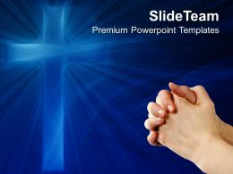 Jesus Christ Life Powerpoint Templates Blue Cross People Global Ppt Theme
