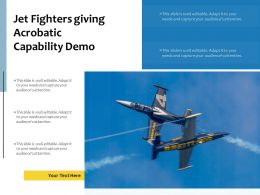 Jet Fighters Giving Acrobatic Capability Demo