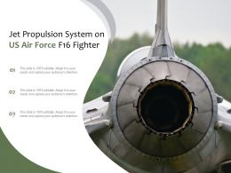 Jet Propulsion System On US Air Force F16 Fighter