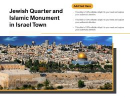 Jewish Quarter And Islamic Monument In Israel Town