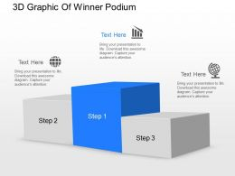jf 3d Graphic Of Winner Podium Powerpoint Template