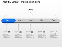 Jf Monthly Linear Timeline With Icons Powerpoint Template