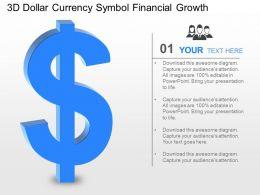 jg 3d Dollar Currency Symbol Financial Growth Powerpoint Template
