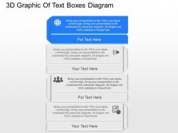 jg 3d Graphic Text Boxes With Icons Powerpoint Template