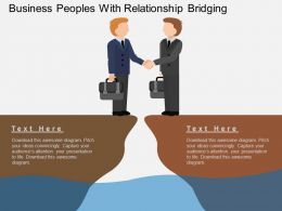 jg Business Peoples With Relationship Bridging Flat Powerpoint Design