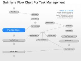 jg Swimlane Flow Chart For Task Management Powerpoint Template