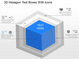 jh 3d Hexagon Text Boxes With Icons Powerpoint Template