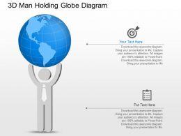 jh 3d Man Holding Globe Target Achievement Powerpoint Template