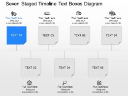 Jh Seven Staged Timeline Text Boxes Diagram Powerpoint Template