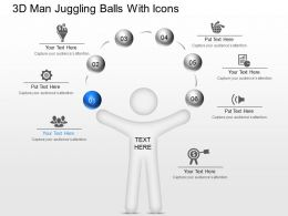 ji 3d Man Juggling Balls With Icons Powerpoint Template