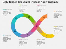 ji Eight Staged Sequential Process Arrow Diagram Flat Powerpoint Design