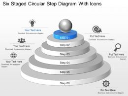 Ji Six Staged Circular Step Diagram With Icons Powerpoint Template