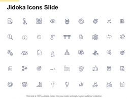 Jidoka Icons Slide Pillars Ppt Powerpoint Presentation File Deck