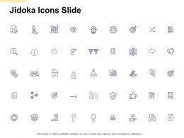 Jidoka Icons Slide Pillars Ppt Powerpoint Presentation File Deck