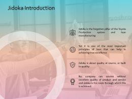 Jidoka Introduction Business Management Planning Strategy Marketing