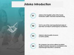 Jidoka Introduction Communication Management Ppt Powerpoint Presentation Gallery Example