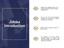 Jidoka Introduction Source Ppt Powerpoint Presentation File Example