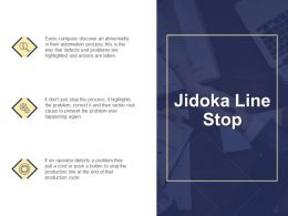 Jidoka Line Stop Automation Process Ppt Powerpoint Presentation File Files