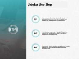 Jidoka Line Stop Technology Marketing Ppt Powerpoint Presentation Gallery Guide