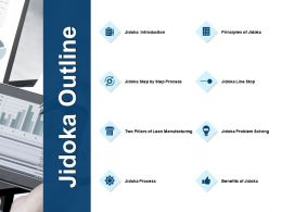 Jidoka Outline And Idea Bulb Ppt Powerpoint Presentation File Background Designs