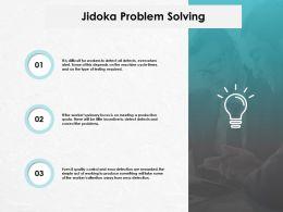 Jidoka Problem Solving Technology Marketing Ppt Powerpoint Presentation Gallery Good