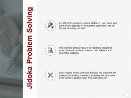 Jidoka Problem Solving Technology Ppt Powerpoint Presentation Slides