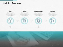 Jidoka Process Change Process Proceed Ppt Powerpoint Presentation Gallery Graphics Tutorials