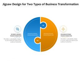 Jigsaw Design For Two Types Of Business Transformation