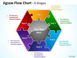 Jigsaw FlowChart 6 diagram Stages 10