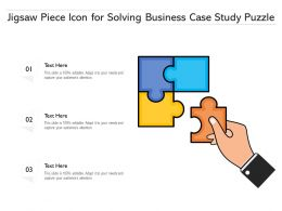 Jigsaw Piece Icon For Solving Business Case Study Puzzle