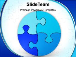 Jigsaw Ppt Powerpoint Templates Circular Puzzle Teamwork Diagram Backgrounds