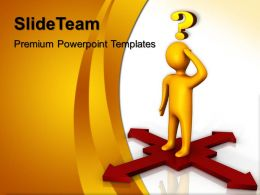Jigsaw Ppt Powerpoint Templates Confused Men Arrows Image Design Slides
