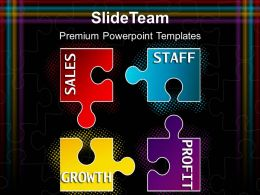 Jigsaw Ppt Powerpoint Templates Growth Profit Sales