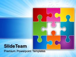 Jigsaw Ppt Powerpoint Templates Looking For Solution Business Slides
