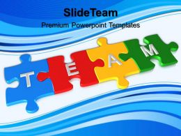 Jigsaw Puzzle Ppt Powerpoint Templates Team Education Designs