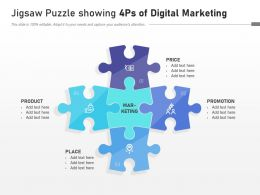 Jigsaw Puzzle Showing 4ps Of Digital Marketing