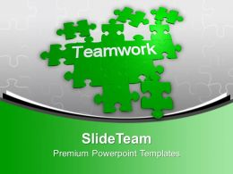 Jigsaw Puzzles Combine To Form Teamwork Powerpoint Templates Ppt Themes And Graphics 0113