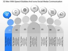 jj 3d Men With Speech Bubbles And Icons Social Media Communication Powerpoint Template