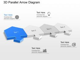 jj 3d Parallel Arrow Diagram Powerpoint Template
