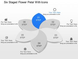 Jj Six Staged Flower Petal With Icons Powerpoint Template